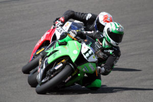 Who will win. Horst Saiger & Sloan Frost are equal on points in F1 Superbike. 1m TerryStevensonFoto 158