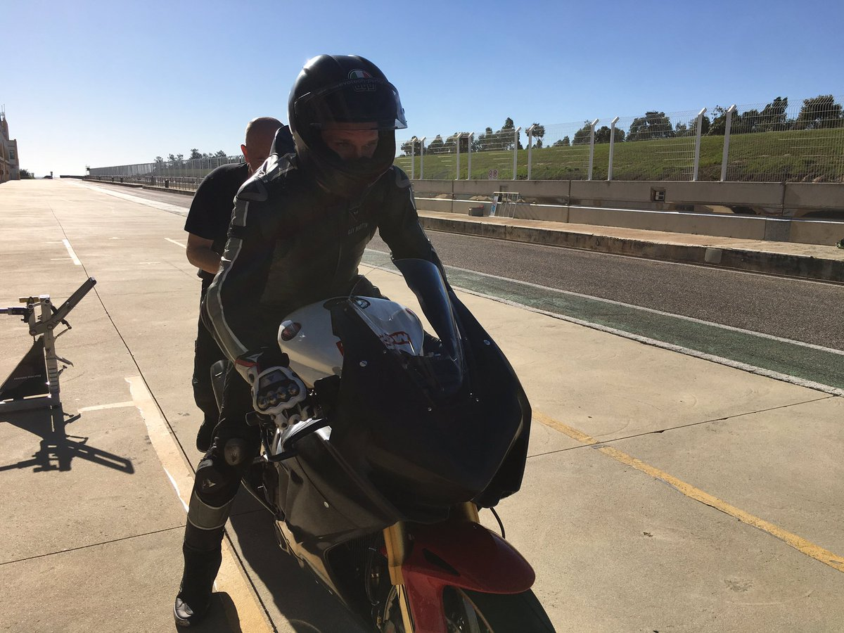 Guy Martin Begins Honda Racing Career At Monteblanco