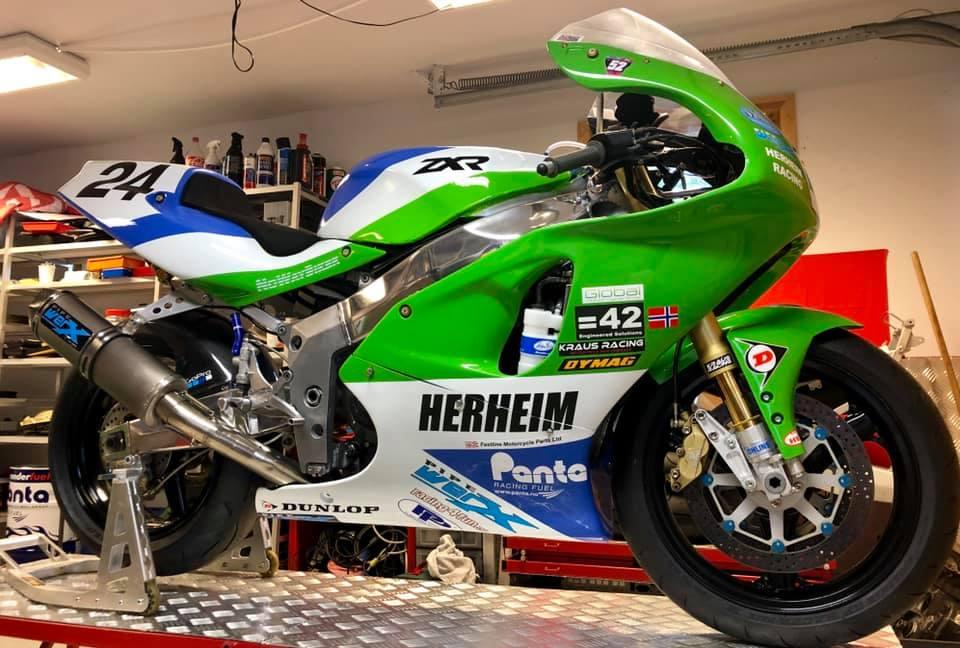 Classic TT: Herheim Racing Confirm Mountain Course Race Action Return
