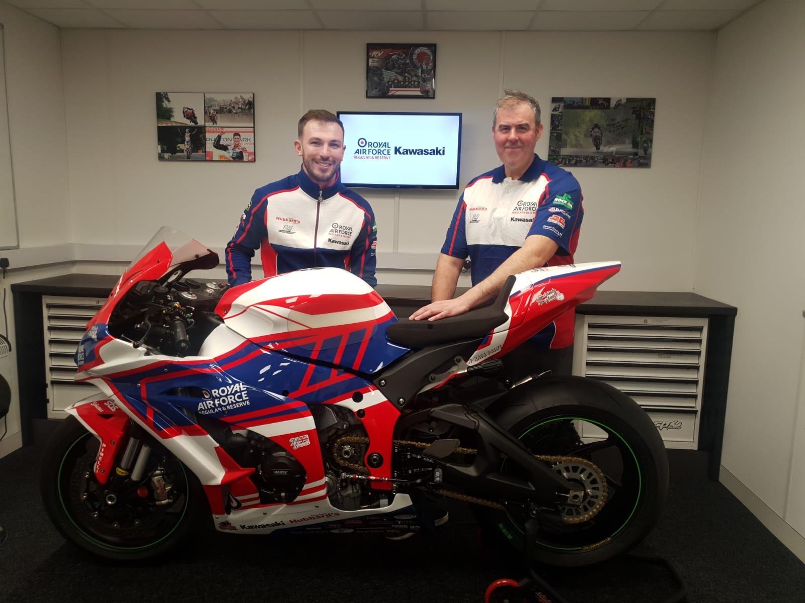RAF Regular & Reserves Kawasaki Reaffirm Commitment To Ulster GP Super Twins Victor Jordan