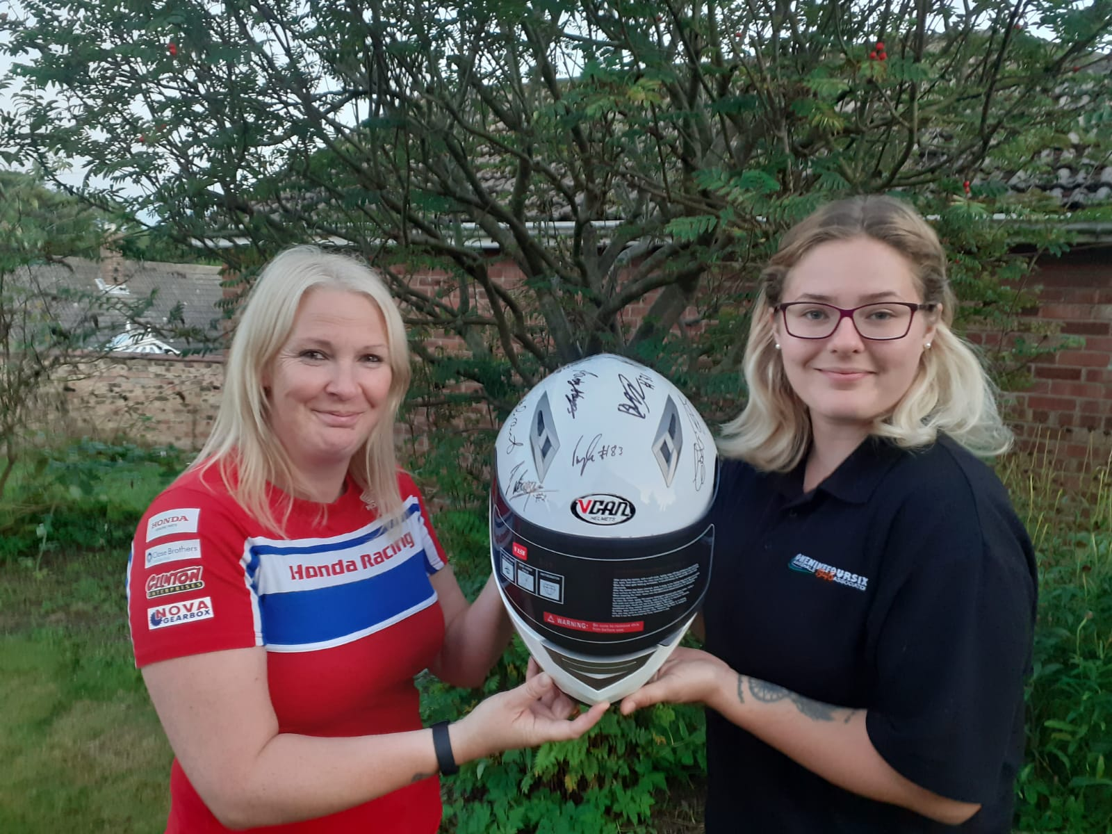 One Nine Four Six Marshals Association Hand Over Signed Helmet To Help Raise Money For CRY