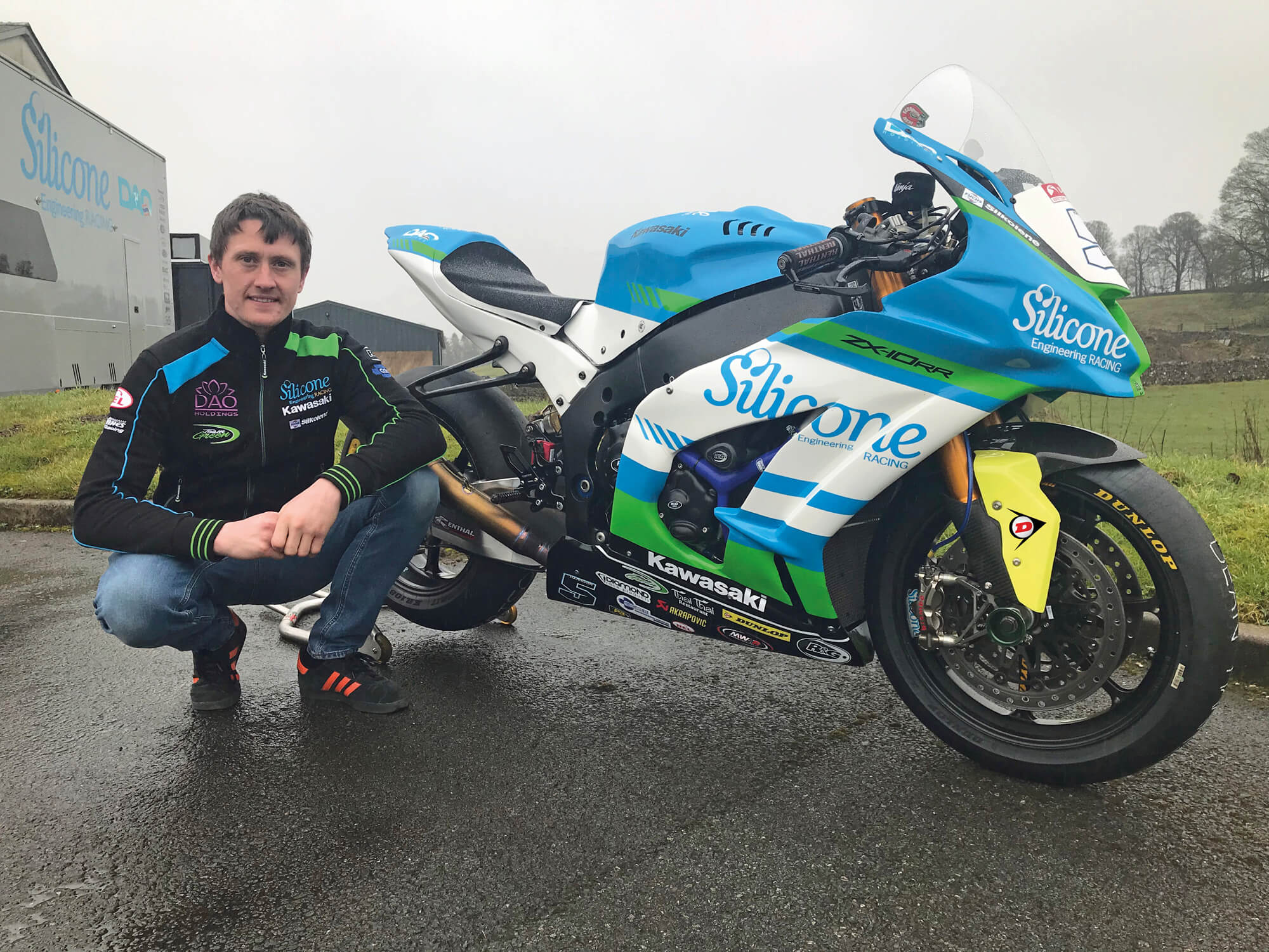 Senior TT Champions Harrison/Silicone Engineering Racing Announce Dunlop Tyres Link Up